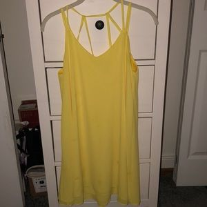 Yellow, Flowy, Summer Dress